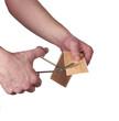 Cutting adhesive bandage