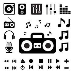Music icon set.