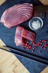 Thon, poisson, cru, japon, japonais, tranche, asie