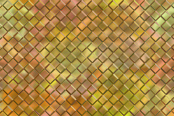 Graphic design abstract background of golden emboss square block