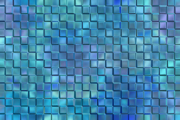 Graphic design abstract background of blue emboss square blocks
