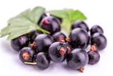 Fresh ripe blackcurrants isolated