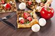 Slice of mushroom pie