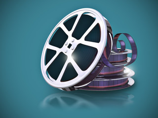 Film reel with filmstrip