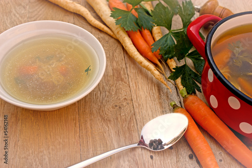 Vegetable soup - vegetarian broth - minestrone