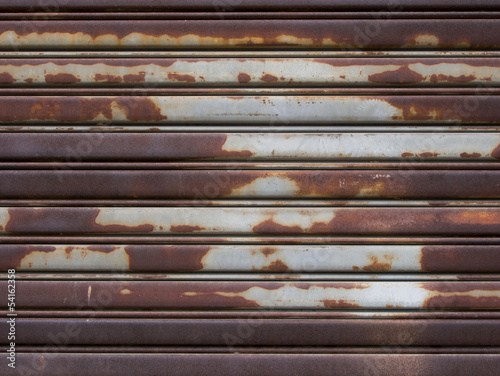 old metal roller shutter door