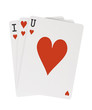 I Heart Love You U Playing Cards with Clipping Path