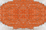 Old Red Brick Wall Disintegrated poster