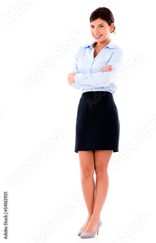 Beautiful business woman