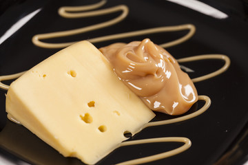 Dulce de leche with cheese
