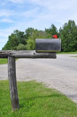 Mailbox in an old wood