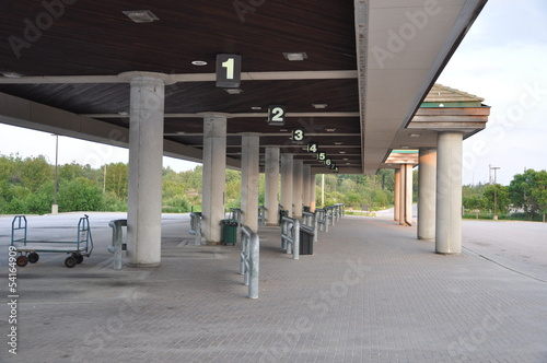 Empty bus station