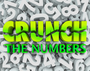 Crunch the Numbers Words Number Background Accounting Taxes