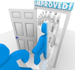 Improved People Walking through Doorway Improvement Change