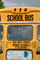 Back of school bus
