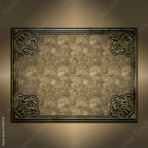 Decorative grunge frame background