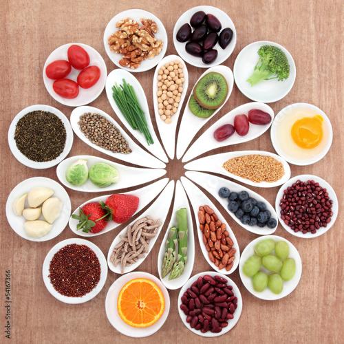 Fotobehang Assortiment Health Food Platter