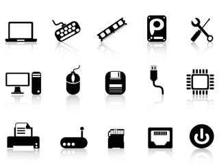 Computer Hardware Icons set
