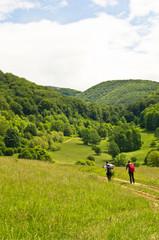 Tracking through the mountain Beljanica, east Serbia