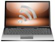 Laptop with wireless WiFi Wlan symbol