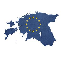 European flag map of Estonia