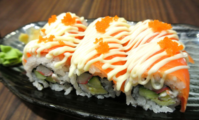 Salmon Roll, Japanese Food