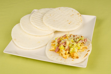 Serving of arepas