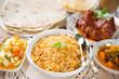 Indian meal biryani rice
