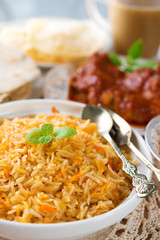 Indian cuisine biryani rice