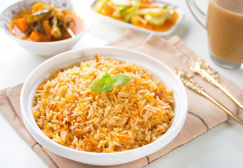 Indian vegetarian biryani rice
