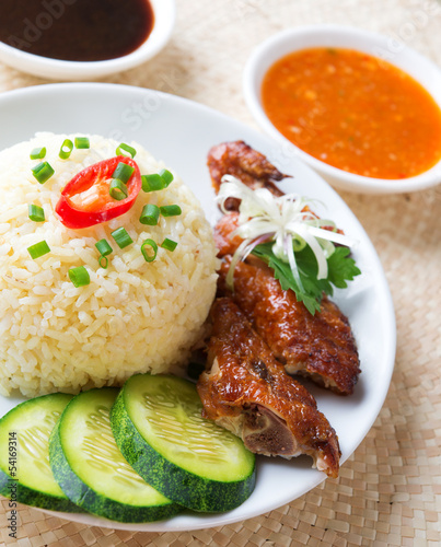 Singapore chicken rice.