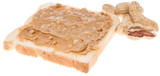 Isolated Peanut Butter Sandwich