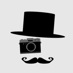 man with top hat and camera