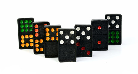 colourful domino for fun play