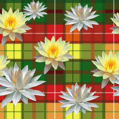 seamless pattern ot beautiful lotuses