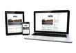 Leinwanddruck Bild - news on a tablet, laptop and phone