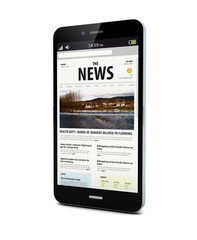 news on a smart phone