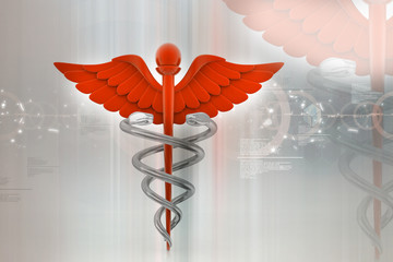 digital illustration of medical symbol in abstract background.
