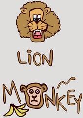 leone e scimmia