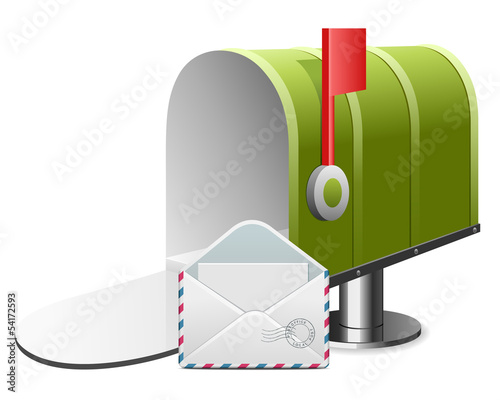 Mailbox with envelope