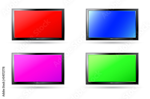 set of colorful plasma screen backgrounds