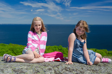 Young best friends- outdoor portrait