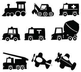 Transportation Icons Set, Vector Illustration EPS 10.