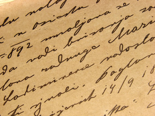 1892 vintage handwriting