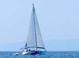 Beautiful sailboat sailing