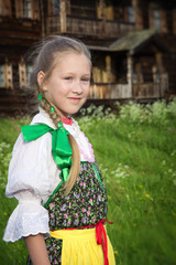 Young girl in Russian national dress