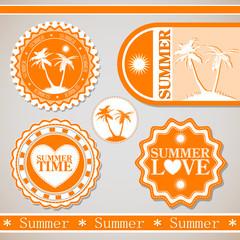 Ретро этикетки для летнего отдыха