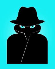 Spion Überwachung Sicherheit Vector