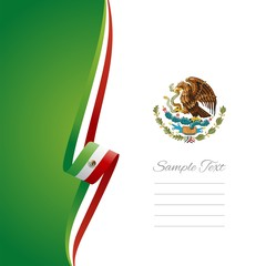 Mexican left side brochure cover vector