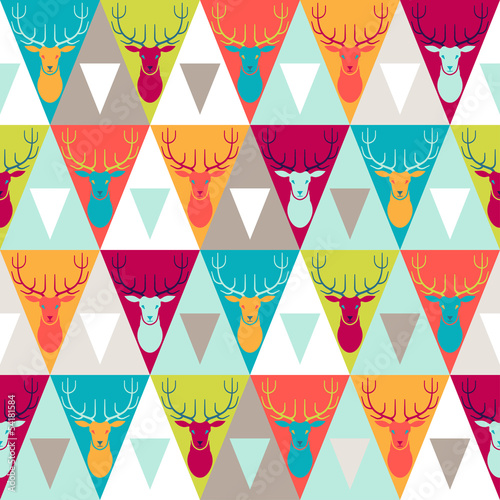 Cotton fabric Hipster style seamless pattern.